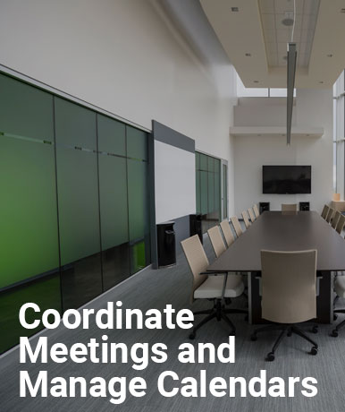 Coordinate Meetings and Manage Calendars